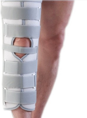 Dr.Med K106 IMMOBILIZER Knee, Calf & Thigh Support (XL, White)