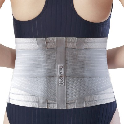 Dr.Med Elastic Waist Support (L, Grey)