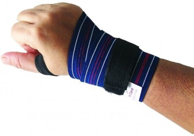 Wonder Care Hand Brace, Gym Wrap Wrist Support (Free Size, Blue)  available at flipkart for Rs.149