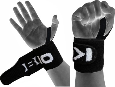 Kobo Power Weight Lifting Training Gym Straps With Thumb Wrist Support (Free Size, Assorted)  available at flipkart for Rs.255