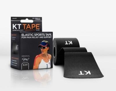 KT TAPE Original Pre-Cut 20 Strip Cotton Black Hand Support (Free Size, Black)