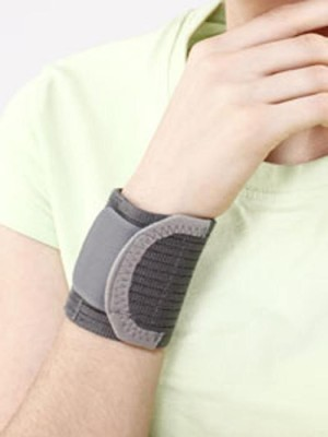 Tynor Wrist Brace with Double lock Wrist Support (S, Grey)  available at flipkart for Rs.91