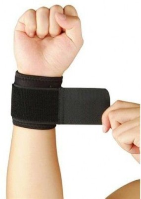 Stayfit GYM WRIST BAND Wrist Support (Free Size, Black)  available at flipkart for Rs.174