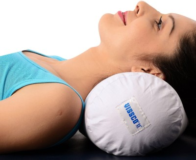 Vissco Cervical Pillow - Round Soft UN Neck Support (Free Size, Beige, Grey)  available at flipkart for Rs.490