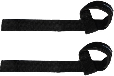 Kobo WTA-01 Pro Weight Lifting Hook Palm Support (Free Size, Black)