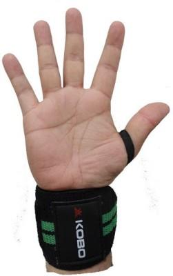 Kobo WTA-04 Pro Weight Lifting Hooks Wrist Support (Free Size, Assorted)