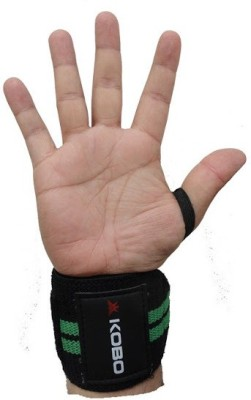 Kobo WTA-04 Pro Weight Lifting Hooks Wrist Support (Free Size, Assorted)  available at flipkart for Rs.257