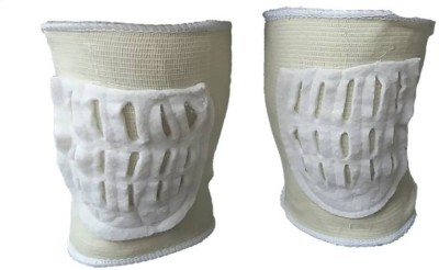H D Enterprise leg joint guard Knee Support (Free Size, White, Grey)  available at flipkart for Rs.229