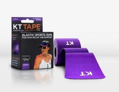 KT TAPE Original Pre-Cut 20 Strip Cotton Purple Wrist Support (Free Size, Purple)