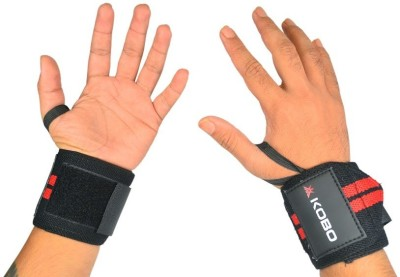 Kobo Pro Weight Lifting Straps Wrist Support (L, Assorted)  available at flipkart for Rs.249