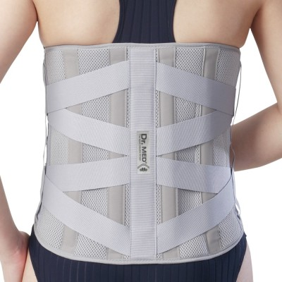 Dr.Med Rigid Lumbo-Sacral Lumbar Support (L, Grey)