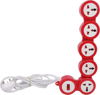 Le Figaro Le-505r 5 Socket Surge Protector(Red)
