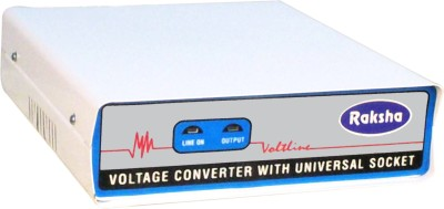 Rajdeep Voltage Converter 500w 1 Socket Extension Boards White Rajdeep Computer Peripherals