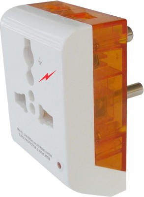 MX MULTIPLUG 3 PIN UNIVERSAL SOCKET CONNECTOR 5 AMP. POLYCARBONATE MOULDING WITH LED INDICATOR AND SURGE PROTECTOR 3 Socket Surge Protector(Multicolor)  available at flipkart for Rs.249