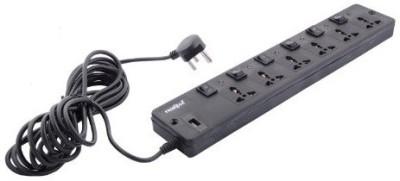 Frontech Spike 6 Socket Surge Protector(Black)