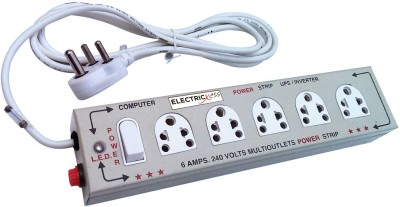 Electricless Power Extension 5 Socket Extension Boards Beige Electricless Computer Peripherals