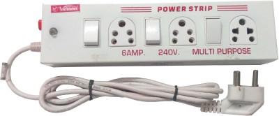 VERSON ED1433VR 3 Socket Surge Protector(White)