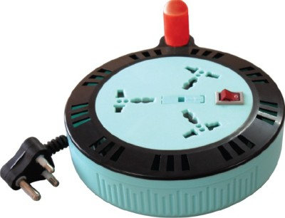 MX EXTENSION BOX WITH FUSE - 6 MTR'S 3 Socket Surge Protector(Multicolor)