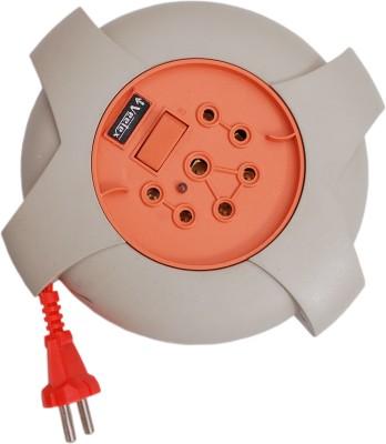 Veetex Jupiter 8 Yards 3 Socket Surge Protector(Brown, Orange)