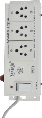 Sargam Spike Busters 3 Socket Surge Protector(White)