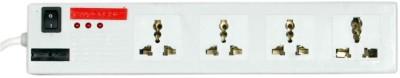 Pinnacle PA112Dx A 4 Socket Surge Protector(White)