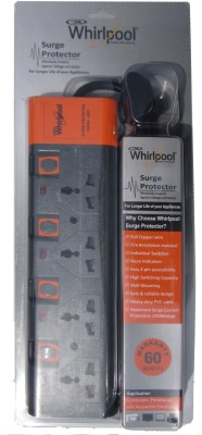 Whirlpool 4 Socket Surge Protector 4 Socket Surge Protector(Black)