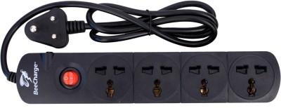 BeeCharge 4 Way Power Socket 4 Socket Surge Protector(Black)