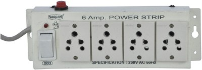 Sargam Spike Busters 4 Socket Surge Protector(White)