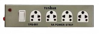 Tushar Metal Body 4 Socket Surge Protector(Grey)