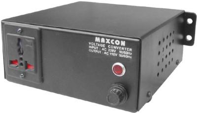 MX 220V to 110V Voltage Converter (100 Watts) 1 Socket Surge Protector(Black)