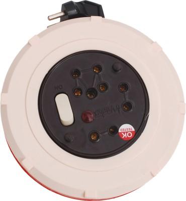 Veetex Spice 8 Yards 3 Socket Surge Protector(White, Orange)