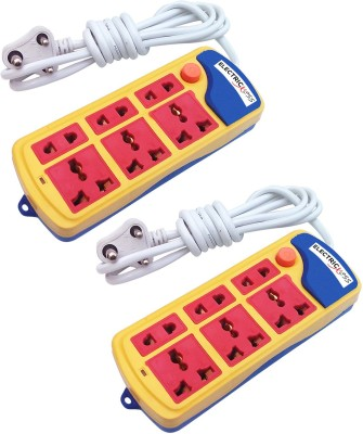 Electricless Power Extension 6 Socket Surge Protector(Multicolor)