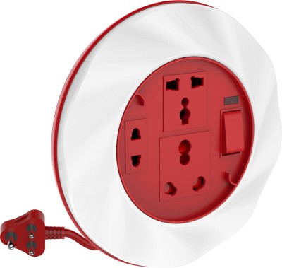 Gold Medal Twister 16a 3 Socket Surge Protector(White, Red)