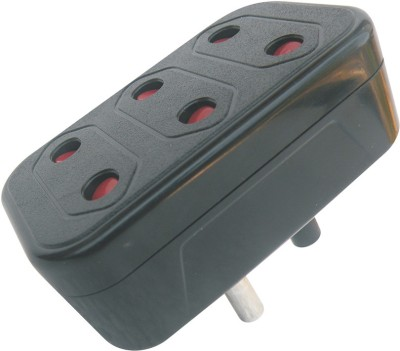 MX 3 pin Multiplug travel adapter with Protection 3 Socket Surge Protector(Multicolor)  available at flipkart for Rs.106