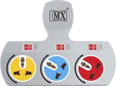 MX 3 Socket Universal Multi Plug 5 AMP- 3477A 3 Socket Surge Protector(Multicolor)  available at flipkart for Rs.699