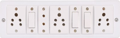 Shri Krishna power link with Havells/Anchor (3 switches and socket And One Two Pin) 4 Socket Surge Protector(White)  available at flipkart for Rs.499