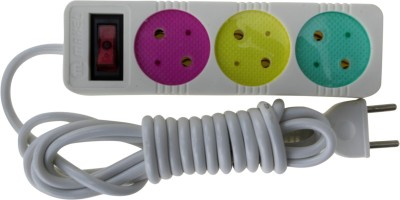 Zeva EXTENSIONCORDWHITE 3 Socket Surge Protector(White) at flipkart