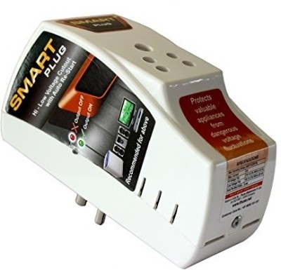 Smart Plug High Low Voltage Cutout/ Protector Rated @ 6amp. 1 Socket Surge Protector(White)