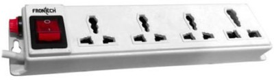 Frontech 3525 4 Socket Surge Protector(White)