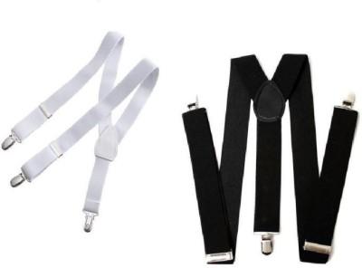 Homeshopeez Y  Back Suspenders for Men, Boys White, Black