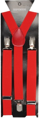 Bsquare Y  Back Suspenders for Men, Women Red