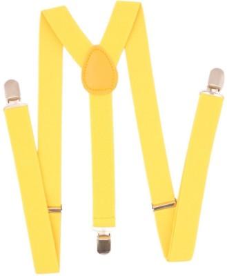 Eccellente Y  Back Suspenders for Men Yellow