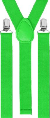 Eccellente Y  Back Suspenders for Men Green