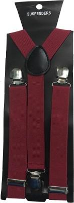 atyourdoor Y  Back Suspenders for Men Maroon
