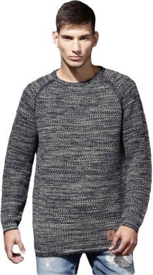 Roadster Solid Round Neck Casual Men Black Sweater at flipkart