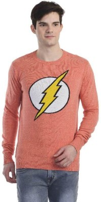 DC Comic Printed Round Neck Round Neck Casual Men Red Sweater at flipkart