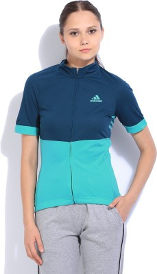 ADIDAS Solid Casual Women Green Sweater