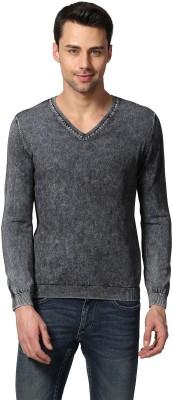 8c09db2d147 50% OFF on Jack & Jones Solid V-neck Men Blue Sweater on Flipkart ...
