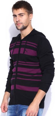 Puma Self Design V-neck V-neck Casual Men Black Sweater at flipkart