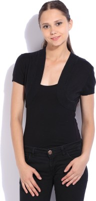 Flying Machine Self Design Casual Women Black Sweater at flipkart